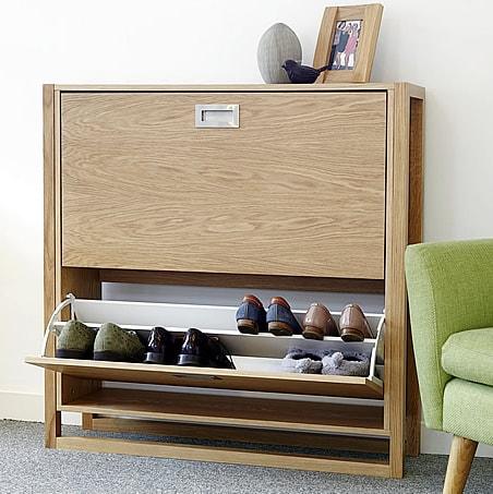 NewEst Shoe Storage Cabinet in Oak