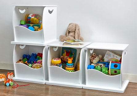4 x Stacking Toy Storage Trunks