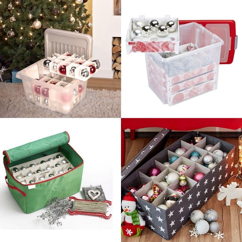 NEW Large Christmas Bauble//Decorations Storage Box Xmas Loft bag New