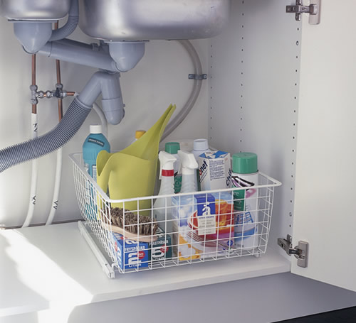 elfa easy glider frame and storage basket