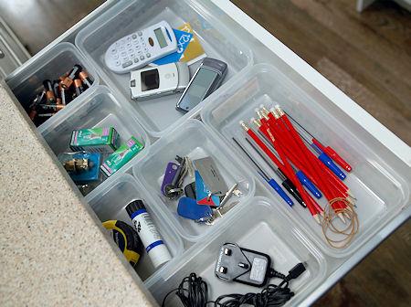 plastic storage box drawer organiser