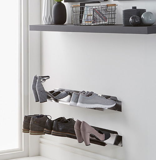 wall mounted stainless steel shoe storage rack