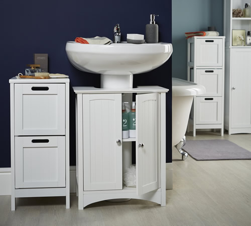 shaker style under sink unit bathroom storage cabinets