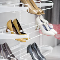 Triple Gliding Elfa Shoe Rack 60cm - White