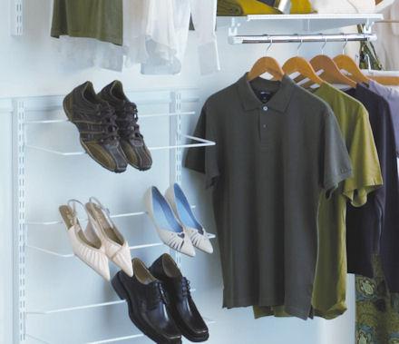 elfa single shoe storage rack