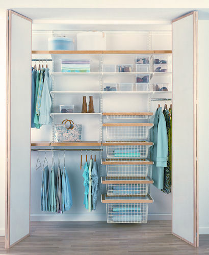 Store elfa walk in wardrobe best selling solution i Best wardrobe storage solutions