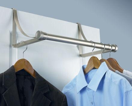umbra hangover valet rail for better bedroom storage