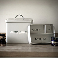 Shoe Shine Storage Box