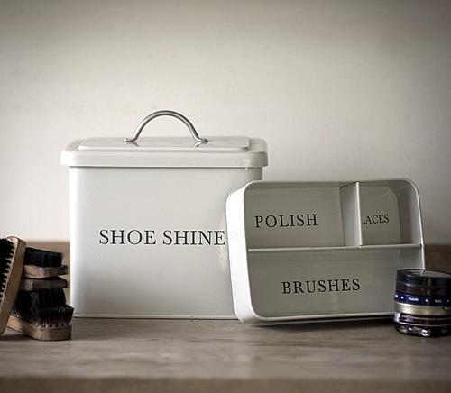 Shoe Shine Storage Box