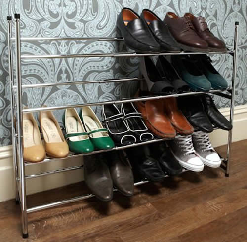 Extendable Stacking Shoe Storage Rack