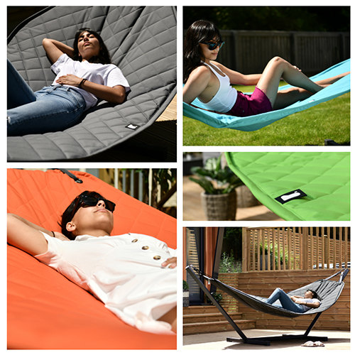 The B Hammock comes in 4 great colour options