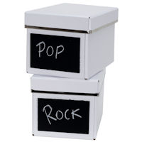 2 x Chalkboard CD Storage Boxes