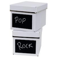 2 x Chalkboard CD Storage Boxes