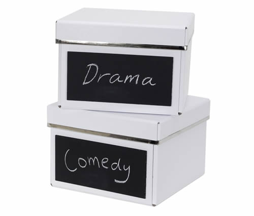 2 x dvd storage boxes