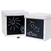 Set of 2 Toy Storage Boxes