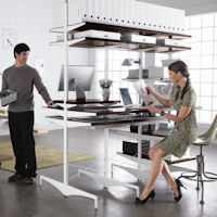 Elfa Ultimate Office Desk & Shelving