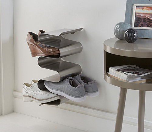 wall mounted shoe storage rack