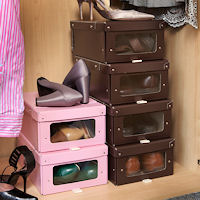 2 x Card Shoe Storage Boxes