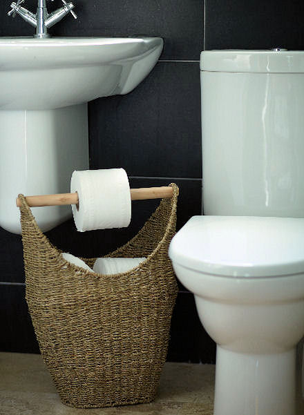 Seagrass Basket Toilet Roll Holder