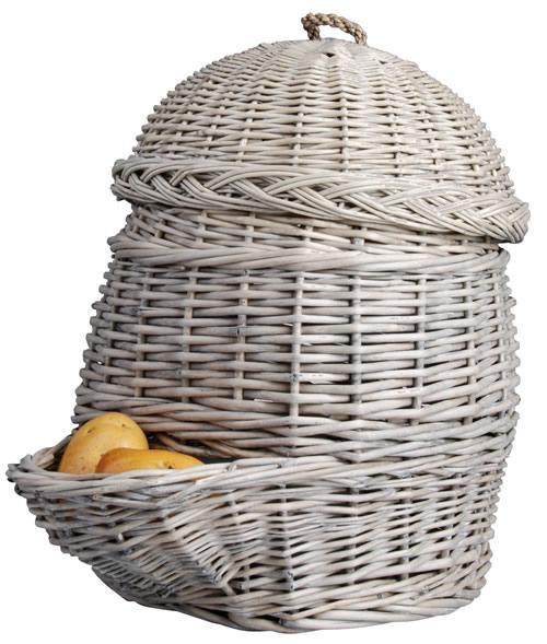wicker potato storage hopper