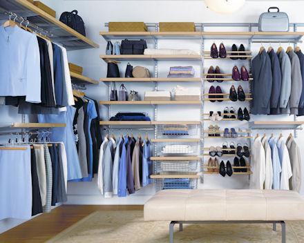 elfa dressing room design service availble call 0844 414 2885