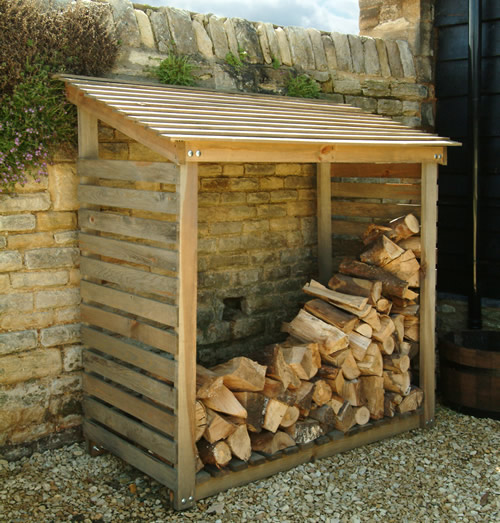 Our rustic pine log store is made of stained pine harvested from a ...
