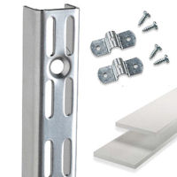 spur twin slot shelving uprights, brackets and accessories