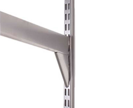 heavy duty  57cm long elfa reinforced bracket...great for supporting a suspended desktop which in turn gives you the freedom to store plenty below