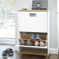 Merton Shoe Storage Cabinet - 2 Drawer