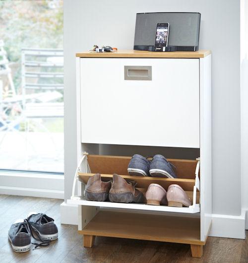 Merton Shoe Storage Cabinet - 2 Drawer - Shoe Cupboards ...