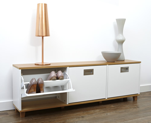 Merton Shoe Storage Bench - 3 Drawer
