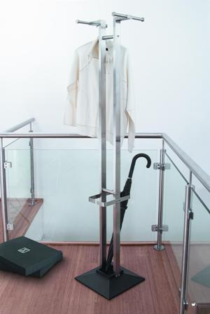 Stainless steel coat and umbrella stand