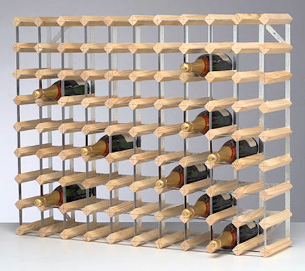 wooden wine storage rack