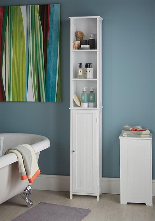 bathroom storage cabinet & STORE | Slimline Tall Bathroom Storage Cabinet