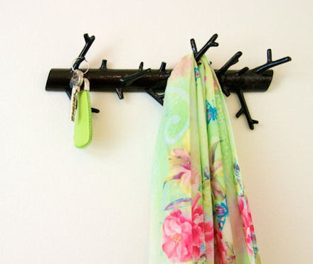 branch storage hook for coats or how about bathroom storage for towels and bathrobes