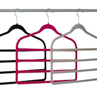 2 x Velvet Trouser Hangers