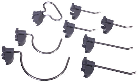 Elfa 8-Piece Storage Hook Set