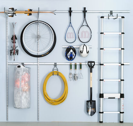 elfa utility starter kit for better garage storage!