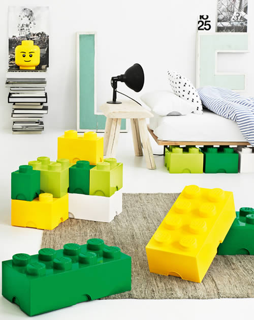giant LEGO brick storage boxes...full colour range exclusvie to STORE!