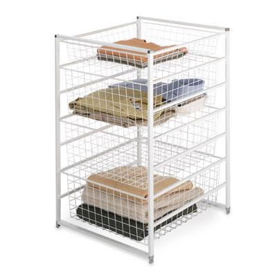 elfa basket drawer towers