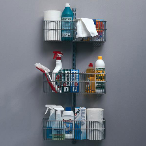 wall rack starter kit with three baskets