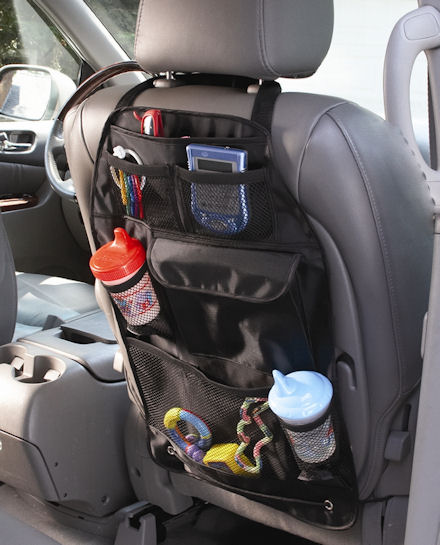 over-seat storage organiser travel accessory for the car
