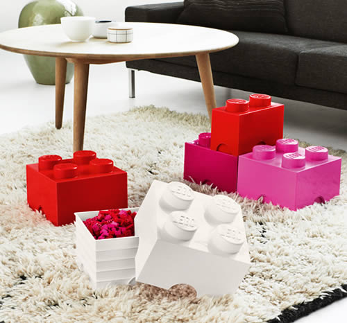 Giant LEGO storage brick boxes