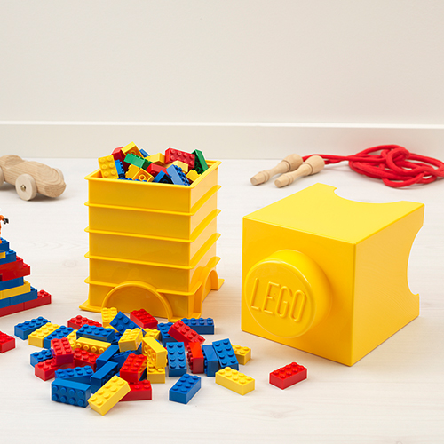 Extra Small Lego Storage Brick in Yellow