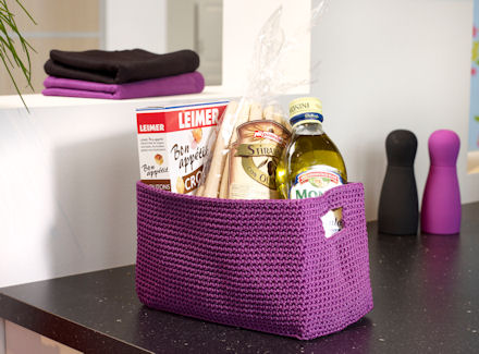 Confetti Basket Black Zone Bathroom Storage