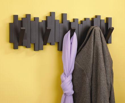 sticks coat hooksort your hallway storage - Coat Hooks With Storage