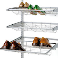 Elfa Gliding Shoe Shelf 60cm - Platinum
