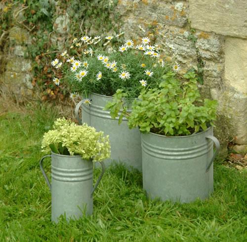 3 x Rustic Garden Planters