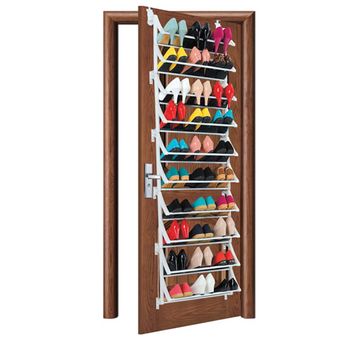 over door shoe rackstores up to 30 pairs of shoes - Over The Door Shoe Rack