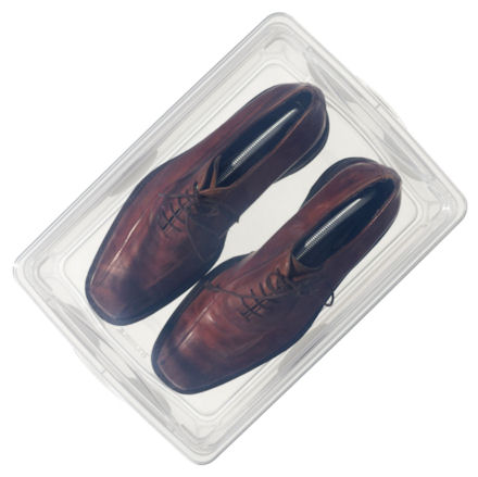 men's plastic shoe boxes